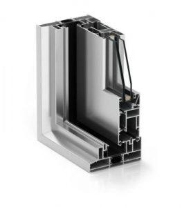 Aluminium system windows with thermal brake London