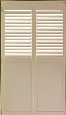 half solid shutters