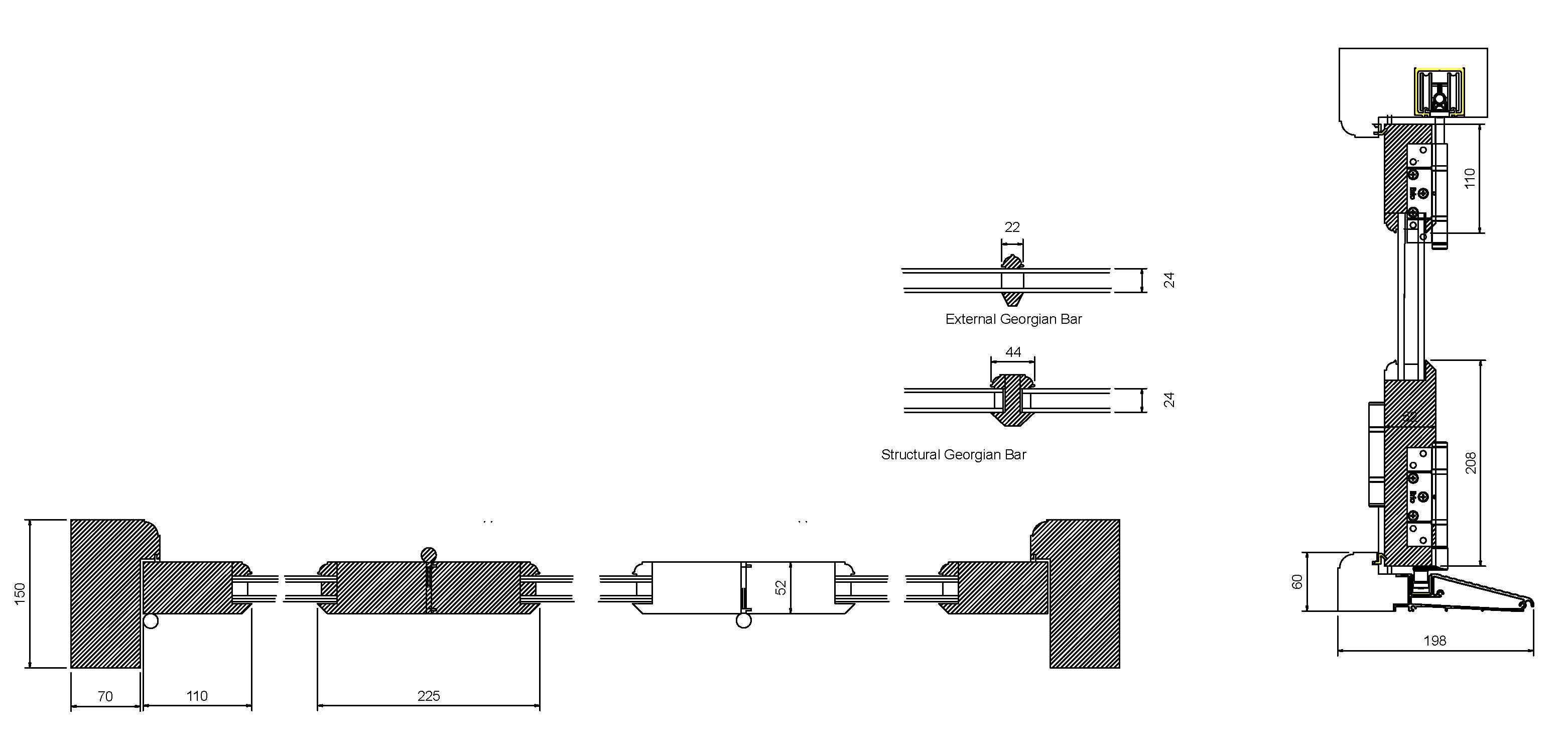 Bi Folding Door drawings