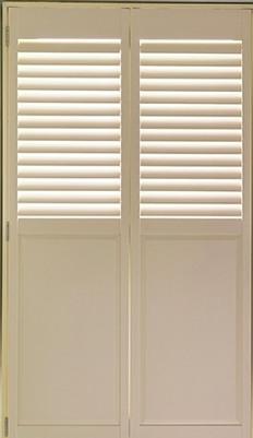 half solid shutters